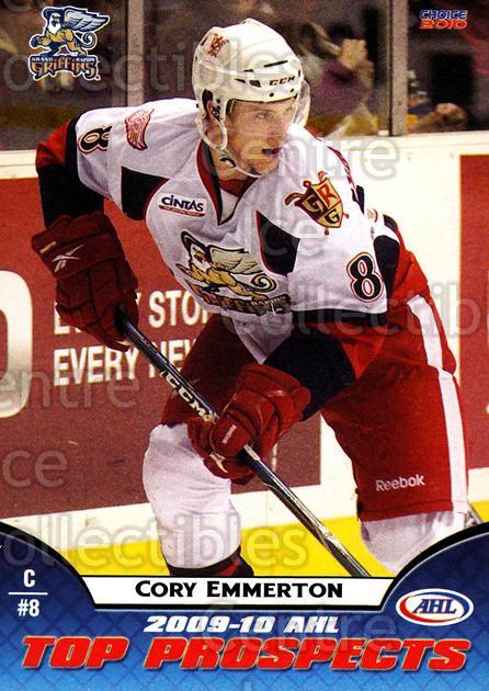 2009-10 AHL Top Prospects #12 Corey Emmerton<br/>6 In Stock - $3.00 each - <a href=https://centericecollectibles.foxycart.com/cart?name=2009-10%20AHL%20Top%20Prospects%20%2312%20Corey%20Emmerton...&quantity_max=6&price=$3.00&code=257269 class=foxycart> Buy it now! </a>