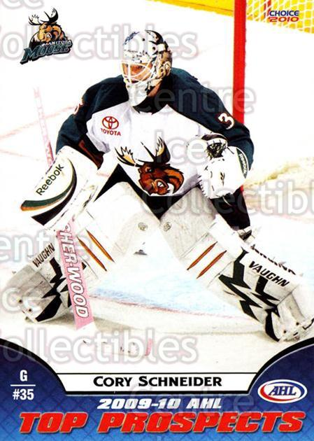 2009-10 AHL Top Prospects #26 Cory Schneider<br/>5 In Stock - $3.00 each - <a href=https://centericecollectibles.foxycart.com/cart?name=2009-10%20AHL%20Top%20Prospects%20%2326%20Cory%20Schneider...&quantity_max=5&price=$3.00&code=257283 class=foxycart> Buy it now! </a>