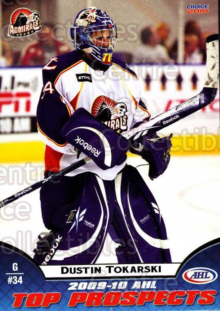 2009-10 AHL Top Prospects #30 Dustin Tokarski<br/>3 In Stock - $3.00 each - <a href=https://centericecollectibles.foxycart.com/cart?name=2009-10%20AHL%20Top%20Prospects%20%2330%20Dustin%20Tokarski...&quantity_max=3&price=$3.00&code=257287 class=foxycart> Buy it now! </a>