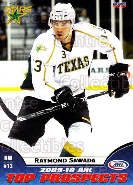 2009-10 AHL Top Prospects #45 Raymond Sawada<br/>3 In Stock - $3.00 each - <a href=https://centericecollectibles.foxycart.com/cart?name=2009-10%20AHL%20Top%20Prospects%20%2345%20Raymond%20Sawada...&quantity_max=3&price=$3.00&code=257302 class=foxycart> Buy it now! </a>