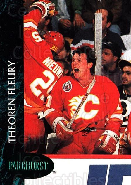 1992-93 Parkhurst Emerald #19 Theo Fleury<br/>7 In Stock - $2.00 each - <a href=https://centericecollectibles.foxycart.com/cart?name=1992-93%20Parkhurst%20Emerald%20%2319%20Theo%20Fleury...&quantity_max=7&price=$2.00&code=257375 class=foxycart> Buy it now! </a>
