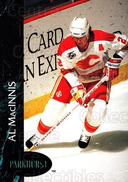 1992-93 Parkhurst Emerald #20 Al MacInnis<br/>6 In Stock - $2.00 each - <a href=https://centericecollectibles.foxycart.com/cart?name=1992-93%20Parkhurst%20Emerald%20%2320%20Al%20MacInnis...&quantity_max=6&price=$2.00&code=257376 class=foxycart> Buy it now! </a>