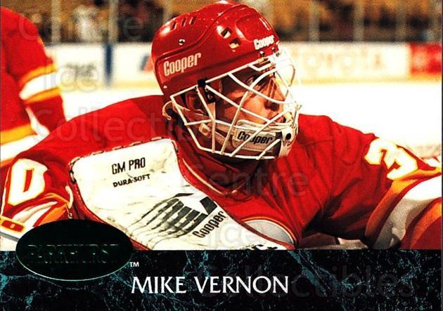 1992-93 Parkhurst Emerald #24 Mike Vernon<br/>4 In Stock - $2.00 each - <a href=https://centericecollectibles.foxycart.com/cart?name=1992-93%20Parkhurst%20Emerald%20%2324%20Mike%20Vernon...&quantity_max=4&price=$2.00&code=257380 class=foxycart> Buy it now! </a>