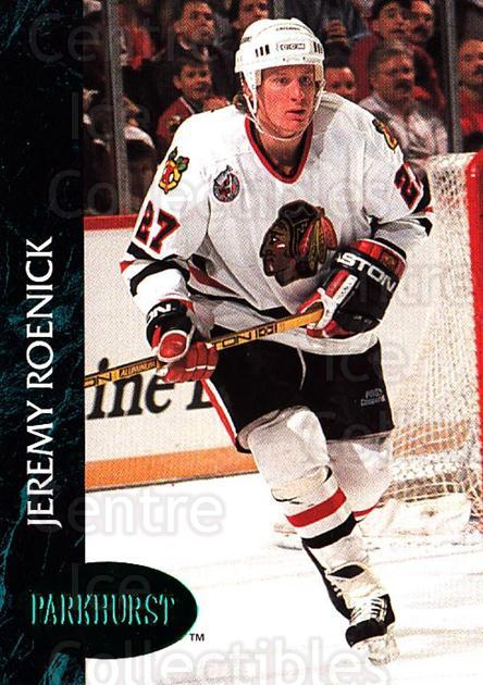 1992-93 Parkhurst Emerald #31 Jeremy Roenick<br/>4 In Stock - $2.00 each - <a href=https://centericecollectibles.foxycart.com/cart?name=1992-93%20Parkhurst%20Emerald%20%2331%20Jeremy%20Roenick...&quantity_max=4&price=$2.00&code=257387 class=foxycart> Buy it now! </a>