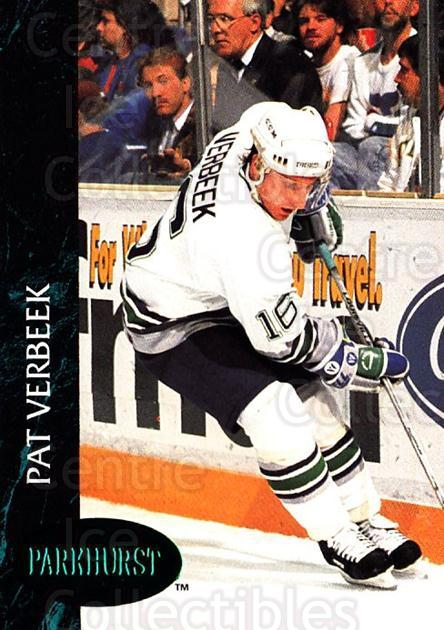 1992-93 Parkhurst Emerald #58 Pat Verbeek<br/>7 In Stock - $2.00 each - <a href=https://centericecollectibles.foxycart.com/cart?name=1992-93%20Parkhurst%20Emerald%20%2358%20Pat%20Verbeek...&quantity_max=7&price=$2.00&code=257414 class=foxycart> Buy it now! </a>