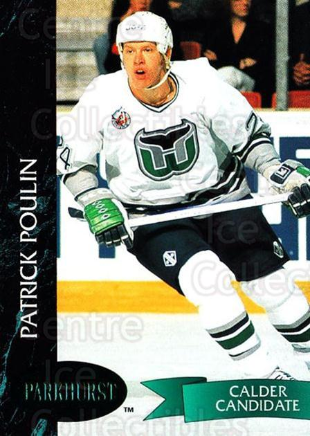 1992-93 Parkhurst Emerald #60 Patrick Poulin<br/>7 In Stock - $2.00 each - <a href=https://centericecollectibles.foxycart.com/cart?name=1992-93%20Parkhurst%20Emerald%20%2360%20Patrick%20Poulin...&quantity_max=7&price=$2.00&code=257416 class=foxycart> Buy it now! </a>