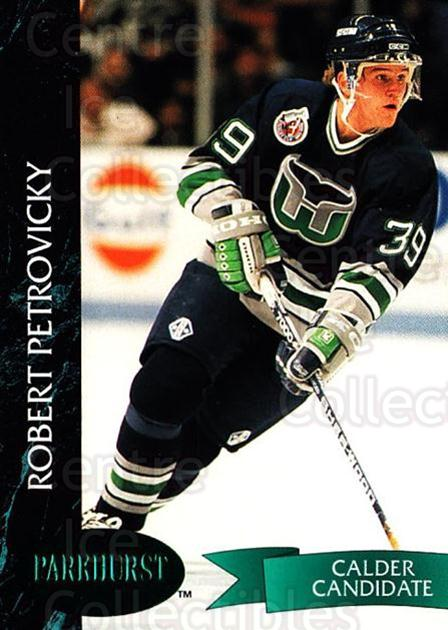 1992-93 Parkhurst Emerald #61 Robert Petrovicky<br/>4 In Stock - $2.00 each - <a href=https://centericecollectibles.foxycart.com/cart?name=1992-93%20Parkhurst%20Emerald%20%2361%20Robert%20Petrovic...&quantity_max=4&price=$2.00&code=257417 class=foxycart> Buy it now! </a>