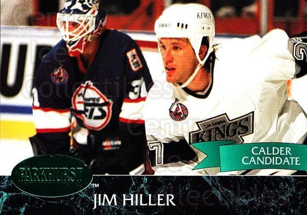 1992-93 Parkhurst Emerald #70 Jim Hiller<br/>5 In Stock - $2.00 each - <a href=https://centericecollectibles.foxycart.com/cart?name=1992-93%20Parkhurst%20Emerald%20%2370%20Jim%20Hiller...&quantity_max=5&price=$2.00&code=257426 class=foxycart> Buy it now! </a>