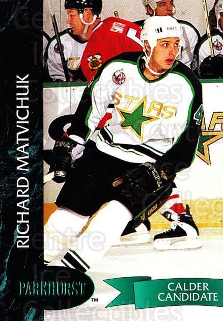 1992-93 Parkhurst Emerald #74 Richard Matvichuk<br/>7 In Stock - $2.00 each - <a href=https://centericecollectibles.foxycart.com/cart?name=1992-93%20Parkhurst%20Emerald%20%2374%20Richard%20Matvich...&quantity_max=7&price=$2.00&code=257430 class=foxycart> Buy it now! </a>