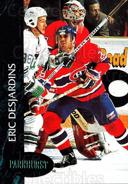 1992-93 Parkhurst Emerald #80 Eric Desjardins<br/>7 In Stock - $2.00 each - <a href=https://centericecollectibles.foxycart.com/cart?name=1992-93%20Parkhurst%20Emerald%20%2380%20Eric%20Desjardins...&quantity_max=7&price=$2.00&code=257436 class=foxycart> Buy it now! </a>
