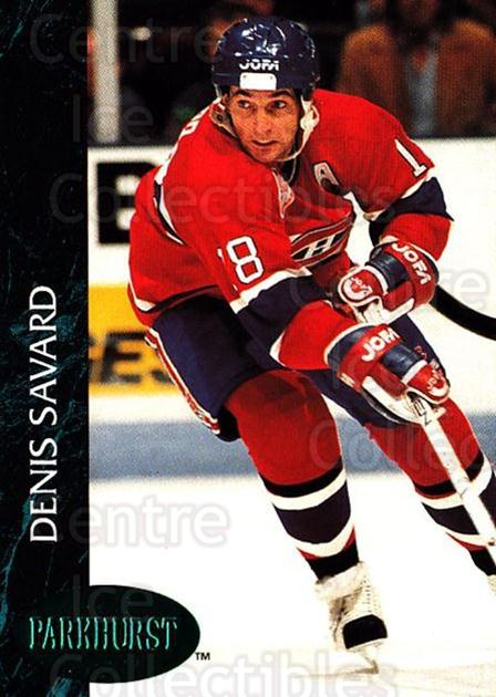 1992-93 Parkhurst Emerald #85 Denis Savard<br/>5 In Stock - $2.00 each - <a href=https://centericecollectibles.foxycart.com/cart?name=1992-93%20Parkhurst%20Emerald%20%2385%20Denis%20Savard...&quantity_max=5&price=$2.00&code=257441 class=foxycart> Buy it now! </a>