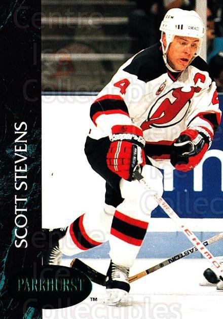 1992-93 Parkhurst Emerald #92 Scott Stevens<br/>6 In Stock - $2.00 each - <a href=https://centericecollectibles.foxycart.com/cart?name=1992-93%20Parkhurst%20Emerald%20%2392%20Scott%20Stevens...&quantity_max=6&price=$2.00&code=257448 class=foxycart> Buy it now! </a>
