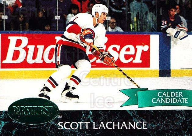 1992-93 Parkhurst Emerald #105 Scott Lachance<br/>7 In Stock - $2.00 each - <a href=https://centericecollectibles.foxycart.com/cart?name=1992-93%20Parkhurst%20Emerald%20%23105%20Scott%20Lachance...&quantity_max=7&price=$2.00&code=257461 class=foxycart> Buy it now! </a>