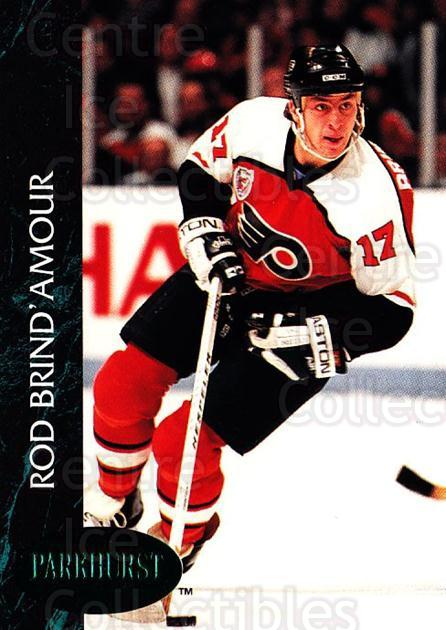 1992-93 Parkhurst Emerald #126 Rod Brind'Amour<br/>7 In Stock - $2.00 each - <a href=https://centericecollectibles.foxycart.com/cart?name=1992-93%20Parkhurst%20Emerald%20%23126%20Rod%20Brind'Amour...&quantity_max=7&price=$2.00&code=257482 class=foxycart> Buy it now! </a>