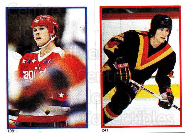 1985-86 O-Pee-Chee Stickers #108-241 Alan Haworth, Patrik Sunstrom<br/>10 In Stock - $2.00 each - <a href=https://centericecollectibles.foxycart.com/cart?name=1985-86%20O-Pee-Chee%20Stickers%20%23108-241%20Alan%20Haworth,%20P...&quantity_max=10&price=$2.00&code=25752 class=foxycart> Buy it now! </a>