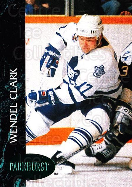 1992-93 Parkhurst Emerald #179 Wendel Clark<br/>5 In Stock - $2.00 each - <a href=https://centericecollectibles.foxycart.com/cart?name=1992-93%20Parkhurst%20Emerald%20%23179%20Wendel%20Clark...&quantity_max=5&price=$2.00&code=257535 class=foxycart> Buy it now! </a>
