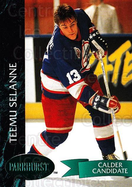 1992-93 Parkhurst Emerald #209 Teemu Selanne<br/>8 In Stock - $3.00 each - <a href=https://centericecollectibles.foxycart.com/cart?name=1992-93%20Parkhurst%20Emerald%20%23209%20Teemu%20Selanne...&quantity_max=8&price=$3.00&code=257565 class=foxycart> Buy it now! </a>