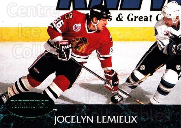 1992-93 Parkhurst Emerald #275 Jocelyn Lemieux<br/>6 In Stock - $2.00 each - <a href=https://centericecollectibles.foxycart.com/cart?name=1992-93%20Parkhurst%20Emerald%20%23275%20Jocelyn%20Lemieux...&quantity_max=6&price=$2.00&code=257631 class=foxycart> Buy it now! </a>