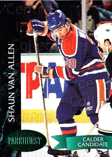 1992-93 Parkhurst Emerald #288 Shaun Van Allen<br/>6 In Stock - $2.00 each - <a href=https://centericecollectibles.foxycart.com/cart?name=1992-93%20Parkhurst%20Emerald%20%23288%20Shaun%20Van%20Allen...&quantity_max=6&price=$2.00&code=257644 class=foxycart> Buy it now! </a>