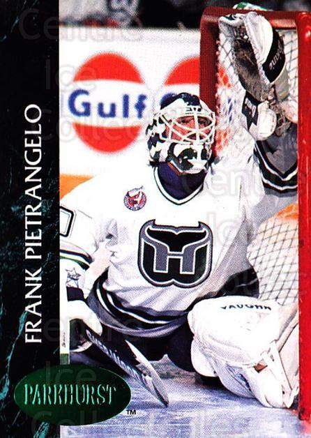 1992-93 Parkhurst Emerald #296 Frank Pietrangelo<br/>5 In Stock - $2.00 each - <a href=https://centericecollectibles.foxycart.com/cart?name=1992-93%20Parkhurst%20Emerald%20%23296%20Frank%20Pietrange...&quantity_max=5&price=$2.00&code=257652 class=foxycart> Buy it now! </a>