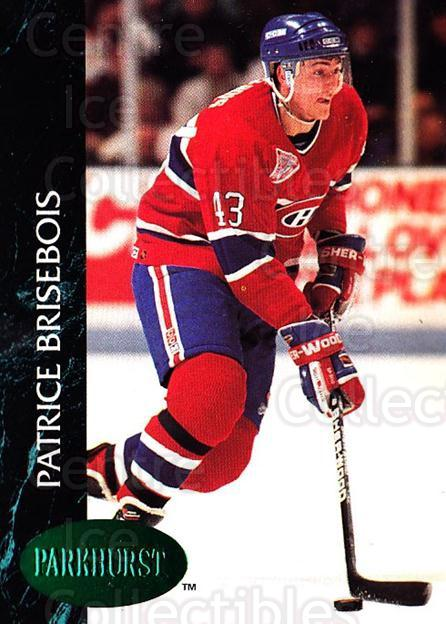 1992-93 Parkhurst Emerald #320 Patrice Brisebois<br/>5 In Stock - $2.00 each - <a href=https://centericecollectibles.foxycart.com/cart?name=1992-93%20Parkhurst%20Emerald%20%23320%20Patrice%20Brisebo...&quantity_max=5&price=$2.00&code=257676 class=foxycart> Buy it now! </a>