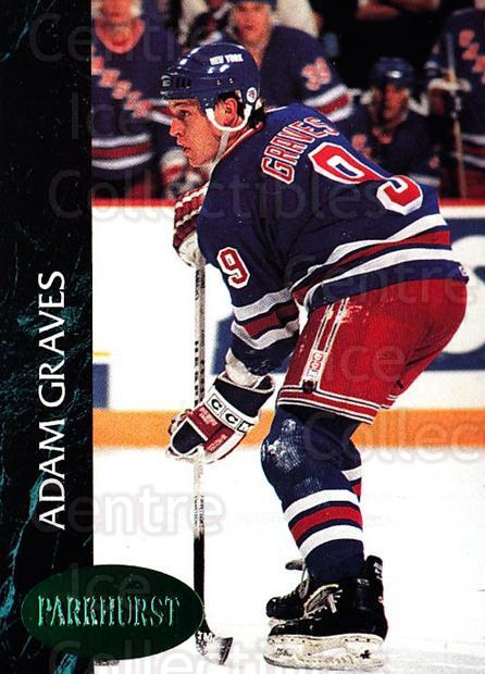 1992-93 Parkhurst Emerald #346 Adam Graves<br/>4 In Stock - $2.00 each - <a href=https://centericecollectibles.foxycart.com/cart?name=1992-93%20Parkhurst%20Emerald%20%23346%20Adam%20Graves...&quantity_max=4&price=$2.00&code=257702 class=foxycart> Buy it now! </a>