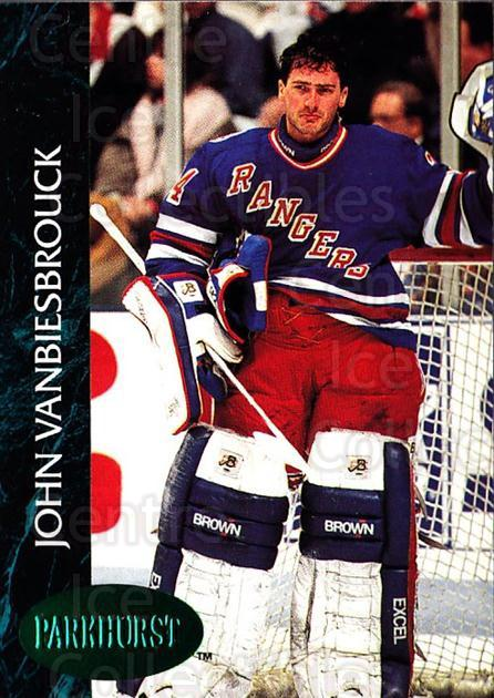 1992-93 Parkhurst Emerald #349 John Vanbiesbrouck<br/>5 In Stock - $2.00 each - <a href=https://centericecollectibles.foxycart.com/cart?name=1992-93%20Parkhurst%20Emerald%20%23349%20John%20Vanbiesbro...&quantity_max=5&price=$2.00&code=257705 class=foxycart> Buy it now! </a>