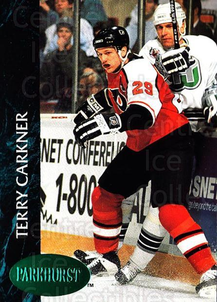1992-93 Parkhurst Emerald #362 Terry Carkner<br/>6 In Stock - $2.00 each - <a href=https://centericecollectibles.foxycart.com/cart?name=1992-93%20Parkhurst%20Emerald%20%23362%20Terry%20Carkner...&quantity_max=6&price=$2.00&code=257718 class=foxycart> Buy it now! </a>