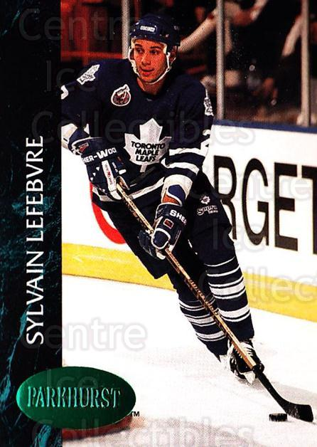 1992-93 Parkhurst Emerald #416 Sylvain Lefebvre<br/>4 In Stock - $2.00 each - <a href=https://centericecollectibles.foxycart.com/cart?name=1992-93%20Parkhurst%20Emerald%20%23416%20Sylvain%20Lefebvr...&quantity_max=4&price=$2.00&code=257772 class=foxycart> Buy it now! </a>