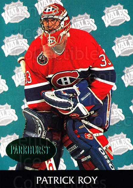 1992-93 Parkhurst Emerald #463 Patrick Roy<br/>44 In Stock - $5.00 each - <a href=https://centericecollectibles.foxycart.com/cart?name=1992-93%20Parkhurst%20Emerald%20%23463%20Patrick%20Roy...&quantity_max=44&price=$5.00&code=257819 class=foxycart> Buy it now! </a>