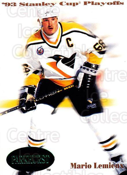 1992-93 Parkhurst Emerald #498 Mario Lemieux<br/>8 In Stock - $5.00 each - <a href=https://centericecollectibles.foxycart.com/cart?name=1992-93%20Parkhurst%20Emerald%20%23498%20Mario%20Lemieux...&price=$5.00&code=257854 class=foxycart> Buy it now! </a>