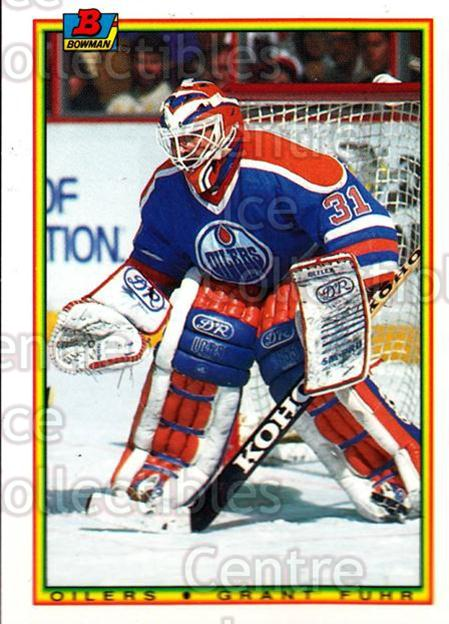 1990-91 Bowman Tiffany #189 Grant Fuhr<br/>9 In Stock - $2.00 each - <a href=https://centericecollectibles.foxycart.com/cart?name=1990-91%20Bowman%20Tiffany%20%23189%20Grant%20Fuhr...&quantity_max=9&price=$2.00&code=257 class=foxycart> Buy it now! </a>