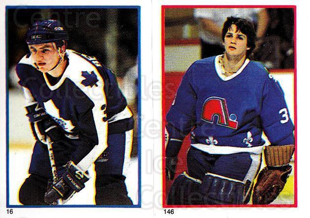 1985-86 O-Pee-Chee Stickers #016-146 Jim Benning, Mario Gosselin<br/>2 In Stock - $2.00 each - <a href=https://centericecollectibles.foxycart.com/cart?name=1985-86%20O-Pee-Chee%20Stickers%20%23016-146%20Jim%20Benning,%20Ma...&quantity_max=2&price=$2.00&code=25806 class=foxycart> Buy it now! </a>