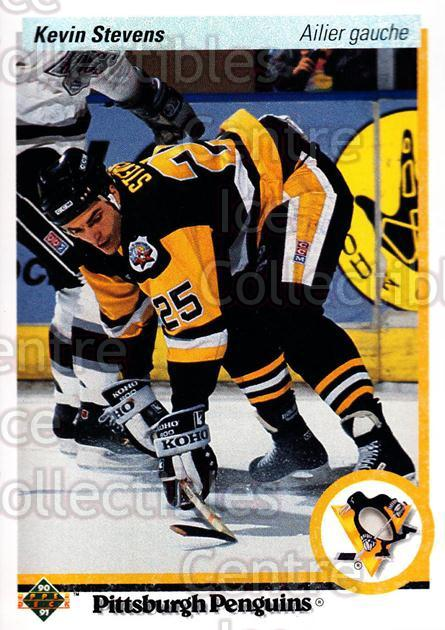 1990-91 Upper Deck French #14 Kevin Stevens<br/>15 In Stock - $1.00 each - <a href=https://centericecollectibles.foxycart.com/cart?name=1990-91%20Upper%20Deck%20French%20%2314%20Kevin%20Stevens...&quantity_max=15&price=$1.00&code=258585 class=foxycart> Buy it now! </a>