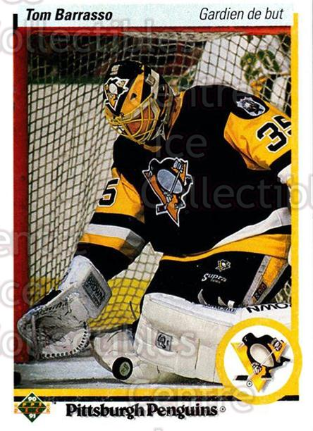 1990-91 Upper Deck French #121 Tom Barrasso<br/>15 In Stock - $1.00 each - <a href=https://centericecollectibles.foxycart.com/cart?name=1990-91%20Upper%20Deck%20French%20%23121%20Tom%20Barrasso...&price=$1.00&code=258692 class=foxycart> Buy it now! </a>