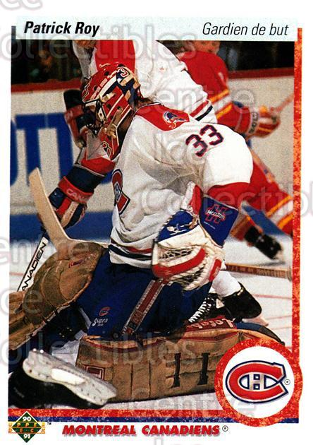 1990-91 Upper Deck French #153 Patrick Roy<br/>7 In Stock - $2.00 each - <a href=https://centericecollectibles.foxycart.com/cart?name=1990-91%20Upper%20Deck%20French%20%23153%20Patrick%20Roy...&quantity_max=7&price=$2.00&code=258724 class=foxycart> Buy it now! </a>