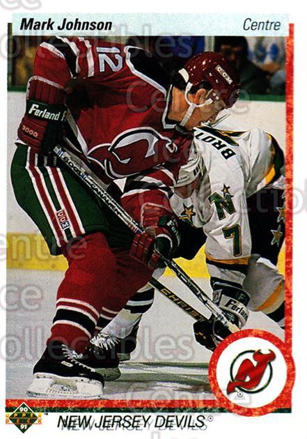 1990-91 Upper Deck French #180 Mark Johnson<br/>17 In Stock - $1.00 each - <a href=https://centericecollectibles.foxycart.com/cart?name=1990-91%20Upper%20Deck%20French%20%23180%20Mark%20Johnson...&quantity_max=17&price=$1.00&code=258751 class=foxycart> Buy it now! </a>