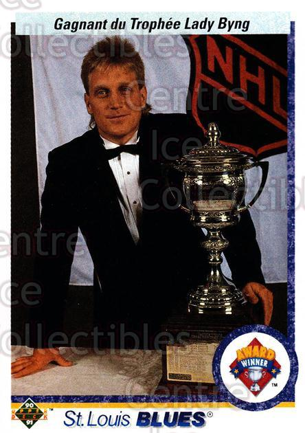 1990-91 Upper Deck French #203 Brett Hull, Lady Byng Trophy<br/>16 In Stock - $1.00 each - <a href=https://centericecollectibles.foxycart.com/cart?name=1990-91%20Upper%20Deck%20French%20%23203%20Brett%20Hull,%20Lad...&price=$1.00&code=258774 class=foxycart> Buy it now! </a>