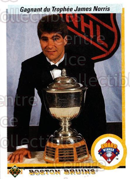 1990-91 Upper Deck French #204 Ray Bourque, Norris Trophy<br/>14 In Stock - $1.00 each - <a href=https://centericecollectibles.foxycart.com/cart?name=1990-91%20Upper%20Deck%20French%20%23204%20Ray%20Bourque,%20No...&quantity_max=14&price=$1.00&code=258775 class=foxycart> Buy it now! </a>