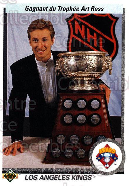 1990-91 Upper Deck French #205 Wayne Gretzky, Art Ross Trophy<br/>14 In Stock - $2.00 each - <a href=https://centericecollectibles.foxycart.com/cart?name=1990-91%20Upper%20Deck%20French%20%23205%20Wayne%20Gretzky,%20...&price=$2.00&code=258776 class=foxycart> Buy it now! </a>