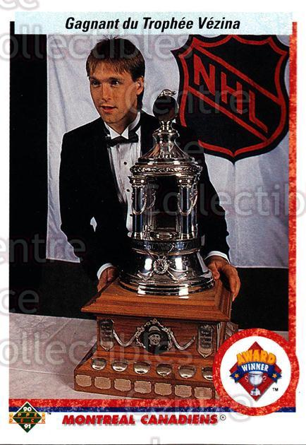 1990-91 Upper Deck French #207 Patrick Roy, Vezina Trophy<br/>7 In Stock - $2.00 each - <a href=https://centericecollectibles.foxycart.com/cart?name=1990-91%20Upper%20Deck%20French%20%23207%20Patrick%20Roy,%20Ve...&quantity_max=7&price=$2.00&code=258778 class=foxycart> Buy it now! </a>