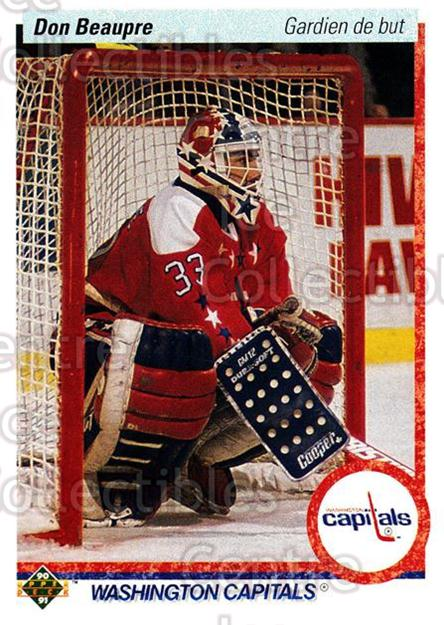 1990-91 Upper Deck French #217 Don Beaupre<br/>16 In Stock - $1.00 each - <a href=https://centericecollectibles.foxycart.com/cart?name=1990-91%20Upper%20Deck%20French%20%23217%20Don%20Beaupre...&quantity_max=16&price=$1.00&code=258788 class=foxycart> Buy it now! </a>