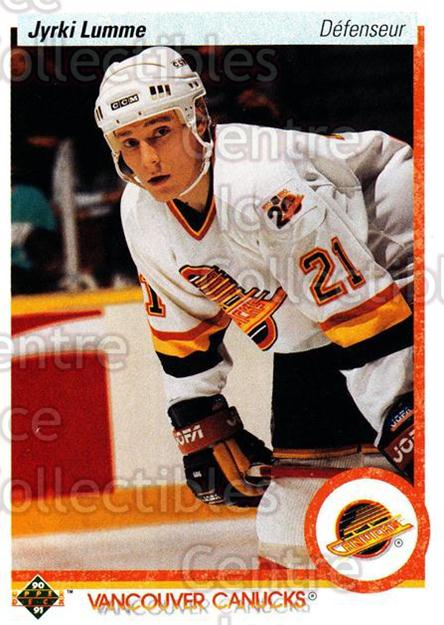1990-91 Upper Deck French #297 Jyrki Lumme<br/>16 In Stock - $1.00 each - <a href=https://centericecollectibles.foxycart.com/cart?name=1990-91%20Upper%20Deck%20French%20%23297%20Jyrki%20Lumme...&quantity_max=16&price=$1.00&code=258868 class=foxycart> Buy it now! </a>