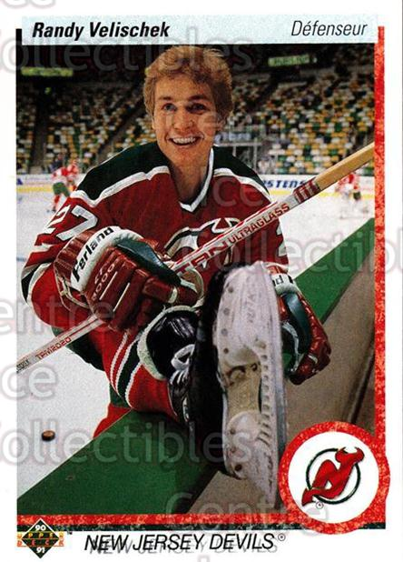 1990-91 Upper Deck French #392 Randy Velischek<br/>17 In Stock - $1.00 each - <a href=https://centericecollectibles.foxycart.com/cart?name=1990-91%20Upper%20Deck%20French%20%23392%20Randy%20Velischek...&quantity_max=17&price=$1.00&code=258963 class=foxycart> Buy it now! </a>