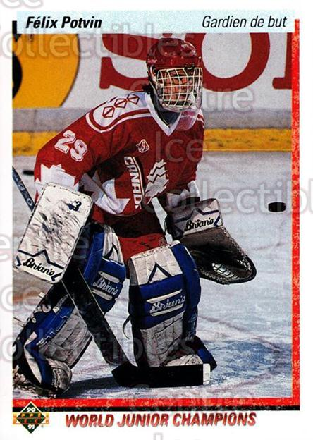 1990-91 Upper Deck French #458 Felix Potvin<br/>12 In Stock - $2.00 each - <a href=https://centericecollectibles.foxycart.com/cart?name=1990-91%20Upper%20Deck%20French%20%23458%20Felix%20Potvin...&quantity_max=12&price=$2.00&code=259029 class=foxycart> Buy it now! </a>