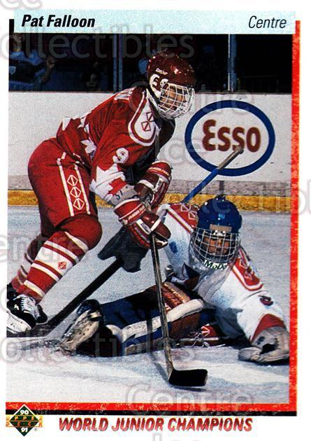 1990-91 Upper Deck French #469 Pat Falloon<br/>13 In Stock - $1.00 each - <a href=https://centericecollectibles.foxycart.com/cart?name=1990-91%20Upper%20Deck%20French%20%23469%20Pat%20Falloon...&quantity_max=13&price=$1.00&code=259040 class=foxycart> Buy it now! </a>