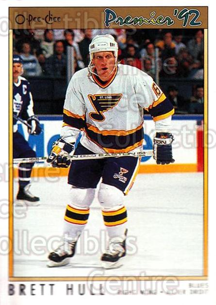 1991-92 OPC Premier #49 Brett Hull<br/>6 In Stock - $1.00 each - <a href=https://centericecollectibles.foxycart.com/cart?name=1991-92%20OPC%20Premier%20%2349%20Brett%20Hull...&price=$1.00&code=259170 class=foxycart> Buy it now! </a>