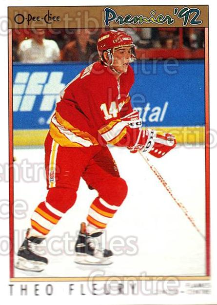 1991-92 OPC Premier #92 Theo Fleury<br/>8 In Stock - $1.00 each - <a href=https://centericecollectibles.foxycart.com/cart?name=1991-92%20OPC%20Premier%20%2392%20Theo%20Fleury...&quantity_max=8&price=$1.00&code=259213 class=foxycart> Buy it now! </a>