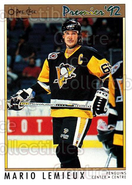 1991-92 OPC Premier #114 Mario Lemieux<br/>4 In Stock - $1.00 each - <a href=https://centericecollectibles.foxycart.com/cart?name=1991-92%20OPC%20Premier%20%23114%20Mario%20Lemieux...&price=$1.00&code=259235 class=foxycart> Buy it now! </a>
