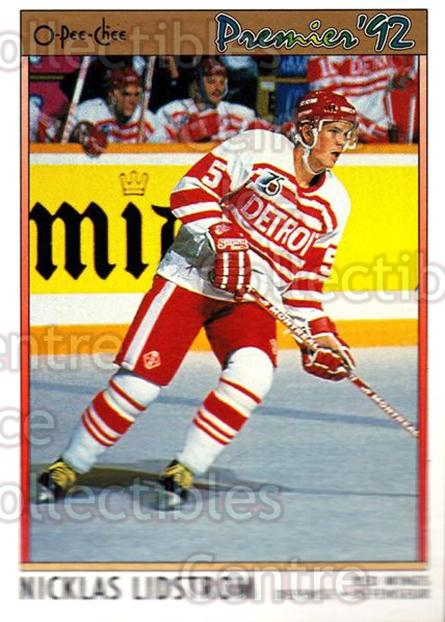 1991-92 OPC Premier #117 Nicklas Lidstrom<br/>7 In Stock - $2.00 each - <a href=https://centericecollectibles.foxycart.com/cart?name=1991-92%20OPC%20Premier%20%23117%20Nicklas%20Lidstro...&price=$2.00&code=259238 class=foxycart> Buy it now! </a>